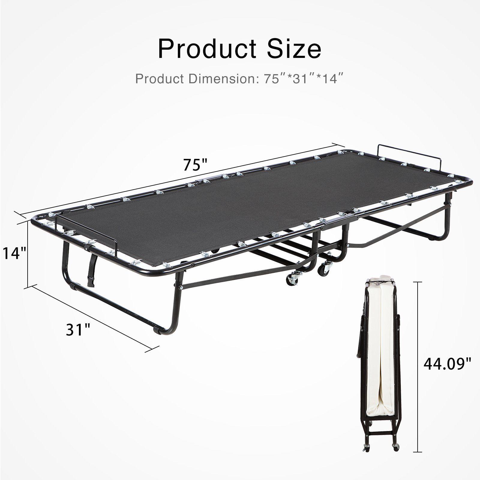 Best Mecor Folding Bed With Luxurious Memory Foam Mattress Cot 400 x 300