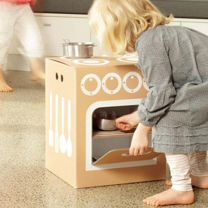 Znalezione Obrazy Dla Zapytania Kuchnia Z Kartonu Cardboard Toys Cardboard Kitchen Modern Kids Toys
