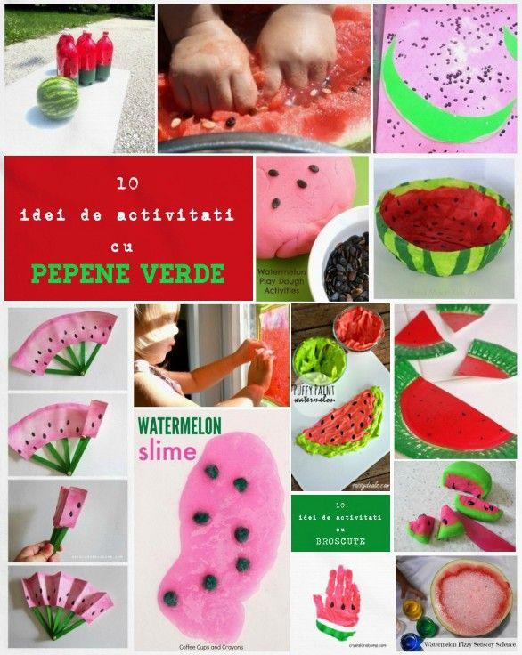 Am strâns aici 10 idei interesante de activități practice și craft-uri cu PEPENE VERDE: PEPEPE VERDE – 10 idei de activități pentru copii 1. Felie de PEPENE VERDErealizată dintr-o farfurie de unică folosință: Instrucțiunile...