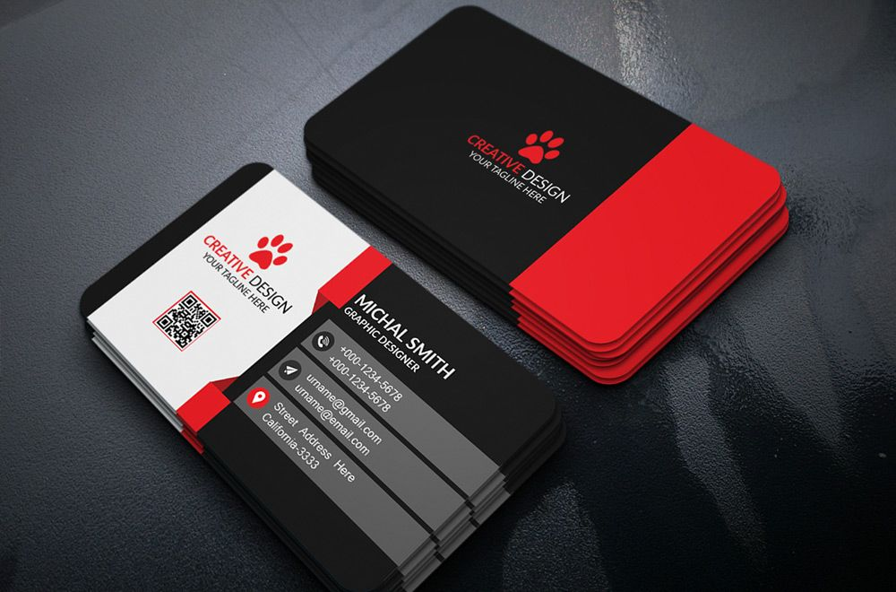 Free Business Card Design PSD | Business Cards | Pinterest | Free ...