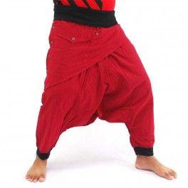 Harem pants-Pluderhose-Aladin pants-Model 03-Pattern 04-black