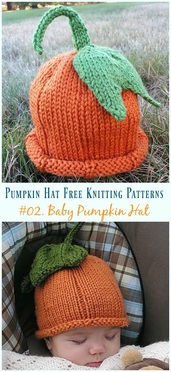1a266bc0c5f4 Pumpkin Hat Free Knitting Patterns  Baby To Adults