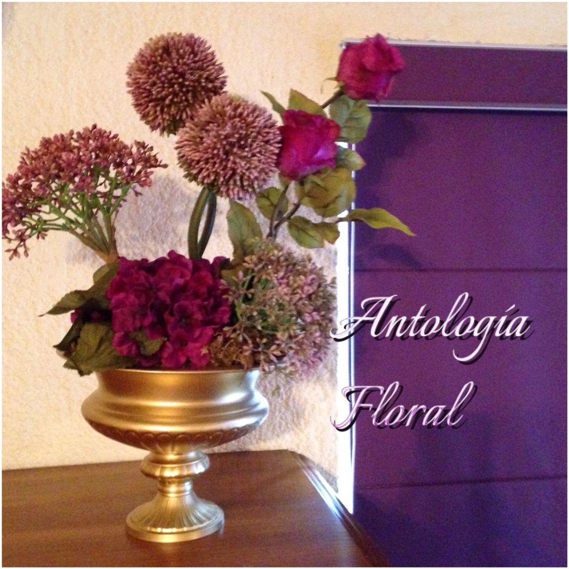 Arreglo de flores artificiales en tonos lila y morado - Arreglos de flores artificiales ...
