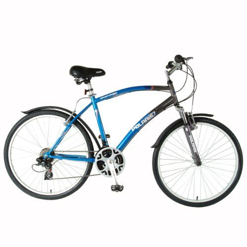 Polaris Men S Sportsman Comfort Bike Blue Gray 26 X 19 Inch Comfort Bike Bike Reviews Mountain Bike Clothing