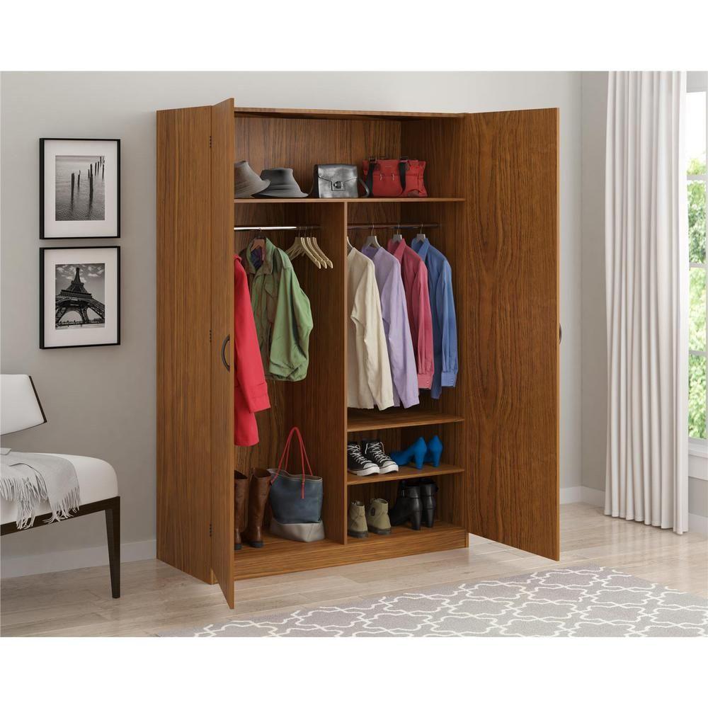 Delicieux SystemBuild Jennings 48 In. Wardrobe Storage Closet, City Oak, City Oak    Arbor Oak