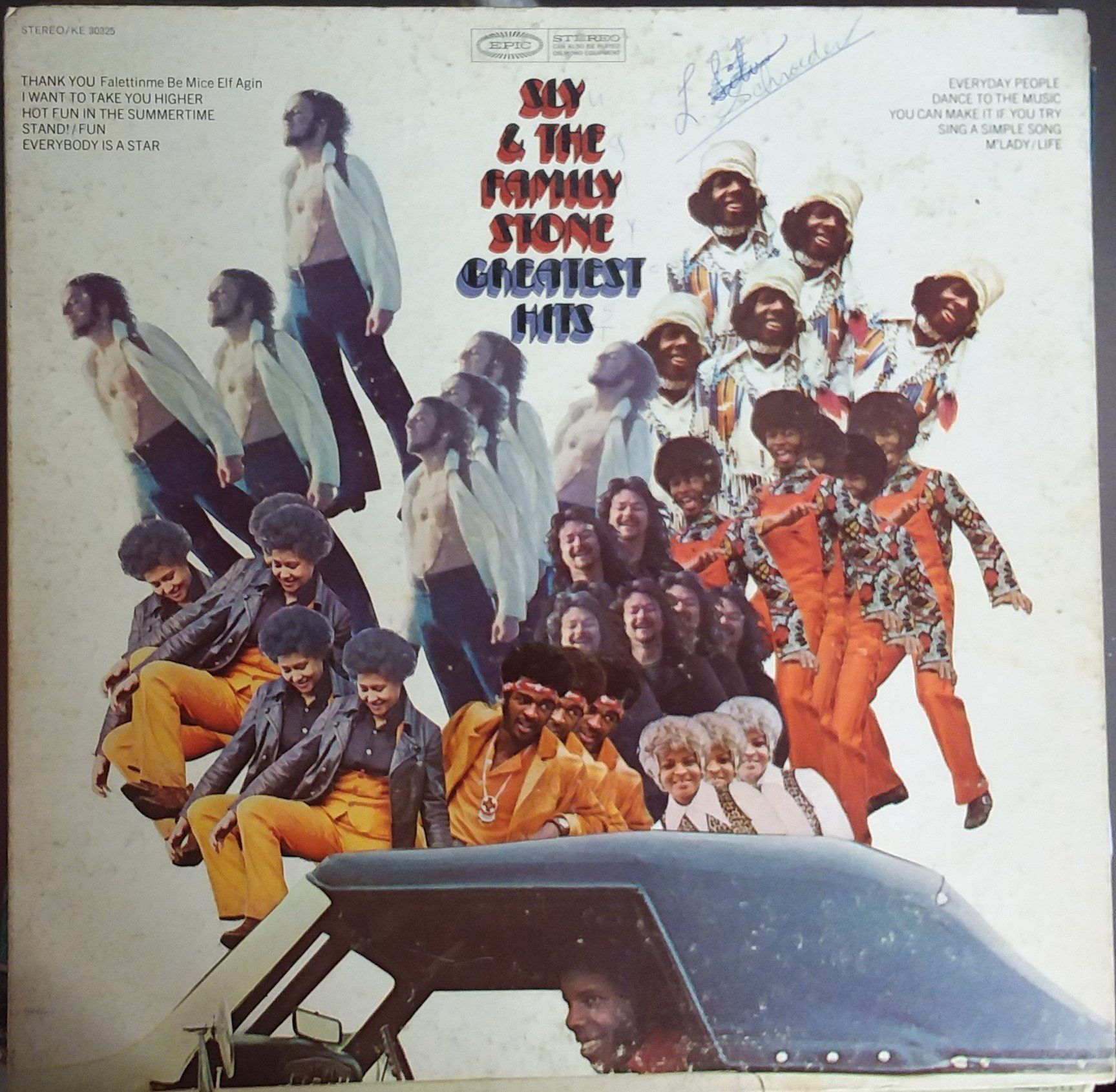 Sly And The Family Stone Greatest Hits Vintage Record Album