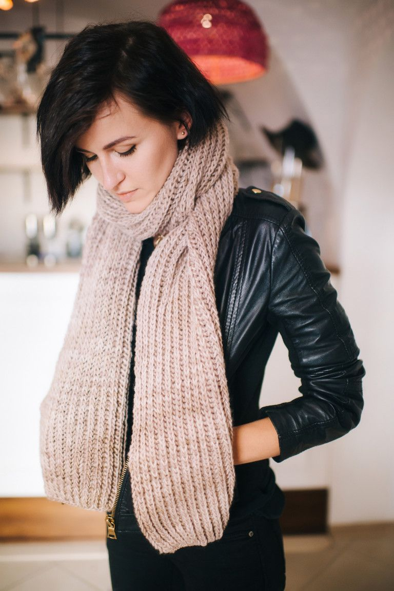 CHUNKY SCARF PATTERN   Chunky scarf pattern, Chunky knit ...