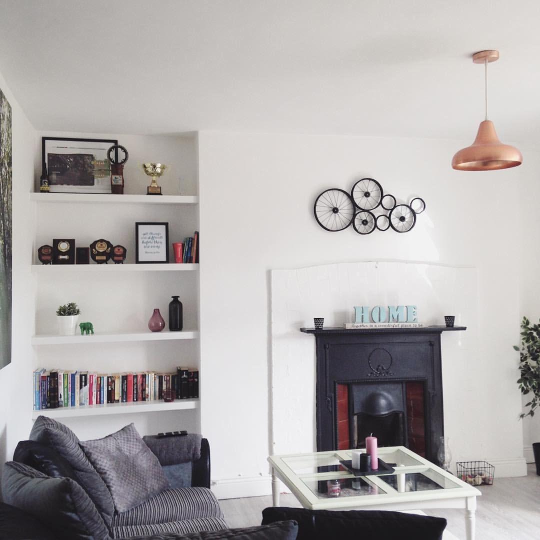 IKEA floating shelves | Alcove shelving | Home decor ...