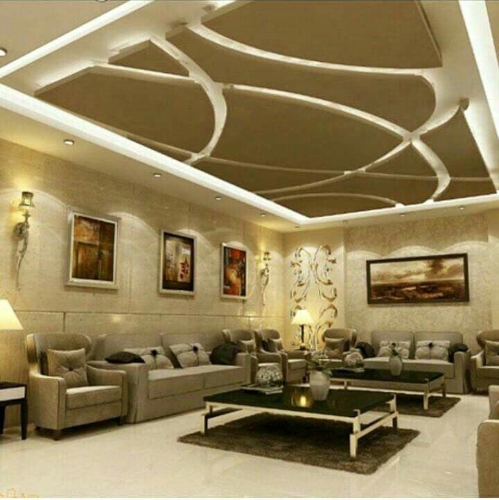 What If False Ceiling Area In Nook Supported  Played Off Feature Cool Ceiling Design For Living Room Inspiration