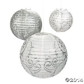 Silver Swirl Paper Lanterns