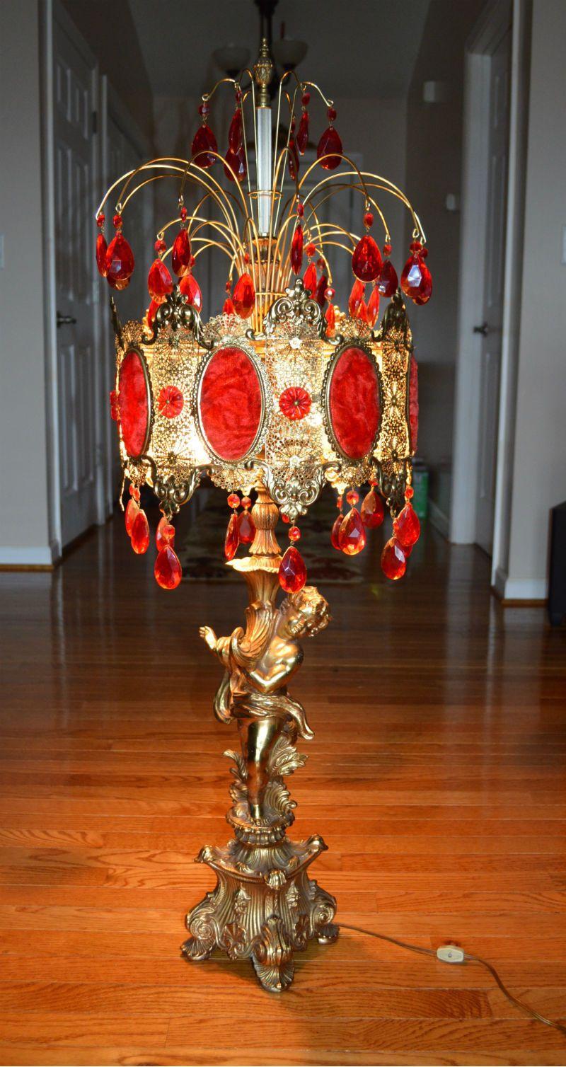 Vintage crystal table lamp - Ll Wmc Loevsky Table Lamp Prism Crystal