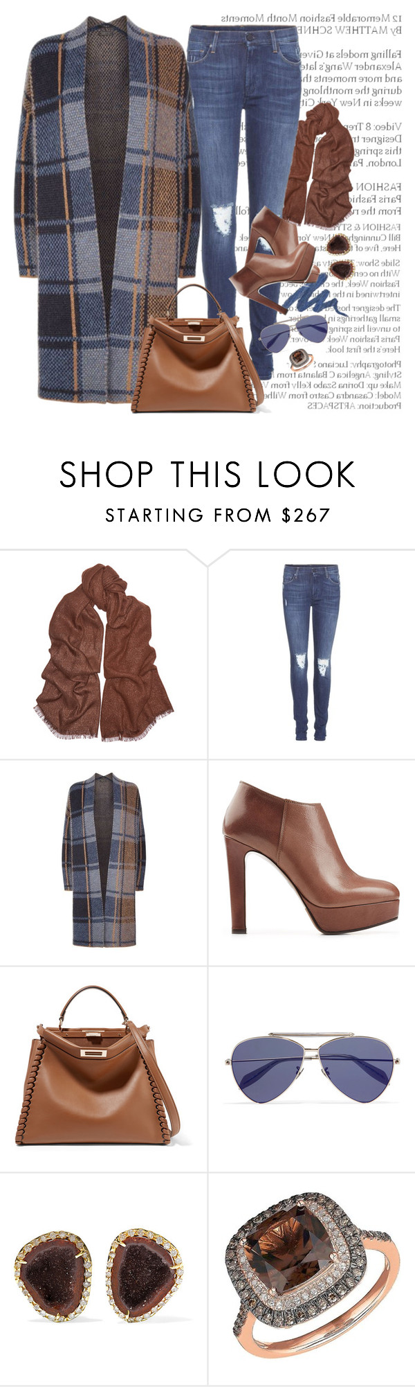 """E728"" by saltless ❤ liked on Polyvore featuring Urban Decay, Brunello Cucinelli, 7 For All Mankind, SET, L'Autre Chose, Fendi, Alexander McQueen, Kimberly McDonald and Lord & Taylor"