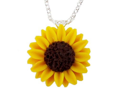Romantic Princess Sunflower Necklace Chain Pearls Flower Pendant Gold Plated