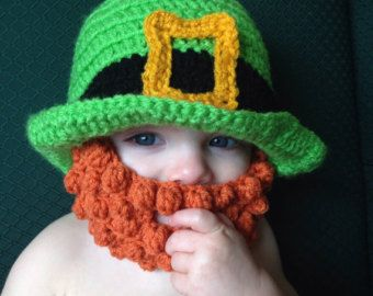 Crocheted Lumberjack Beard Baby Infant Toddler by MiniToppers Baby Beard Hat e8c313914e0