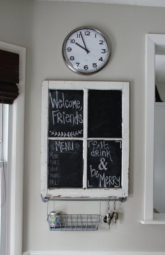 Fensterdeko - pfiffige DIY-Ideen aus alten Fensterrahmen ...