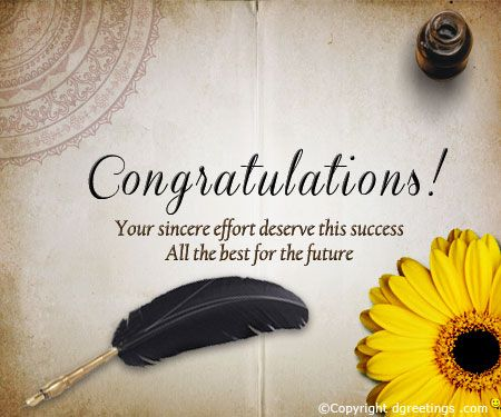 Congratulate your loved ones on their success with this cool card