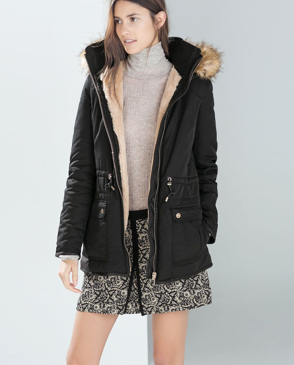 1b7add74 ZARA - TRF - SHORT PARKA | Fashion & Jewelry