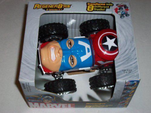 Marvel Regener8'rs Captain America Car Transforms Into 8 Different Trucks by Regenrer8'rs. $34.90