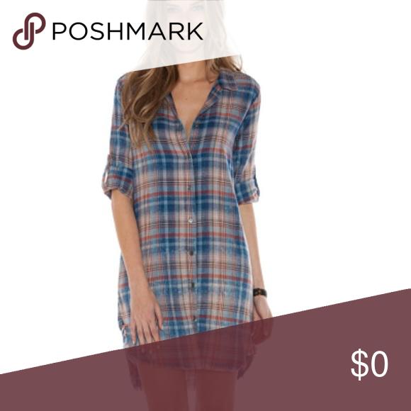 a418cff4453 🍃💕Frayed Hem Shirt Dress Aberdeen Plaid Perfect for fall ...