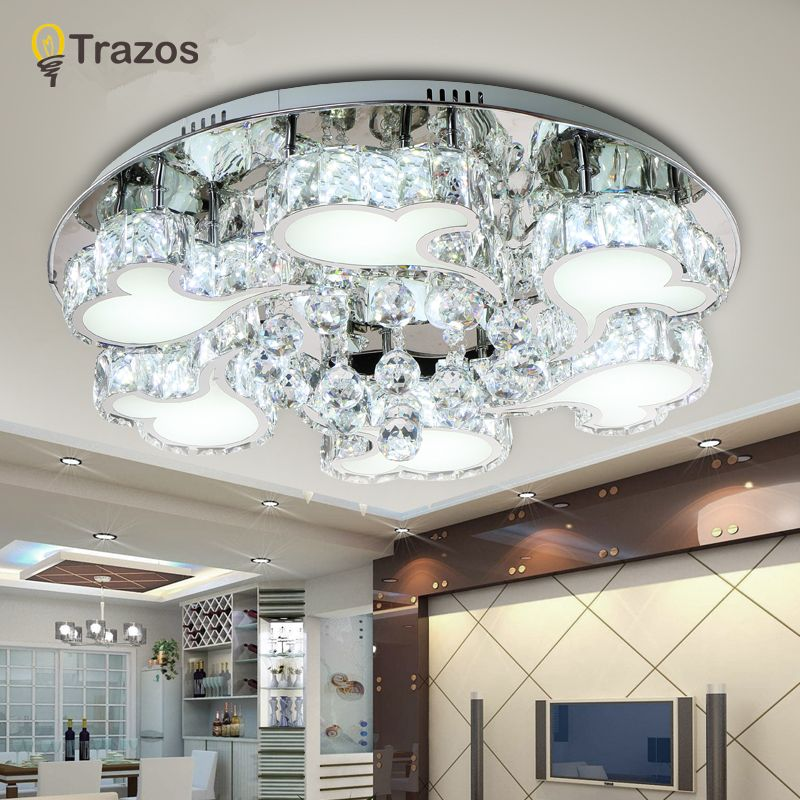 Reviews modern led ceiling light round crystal lustre luminarias reviews modern led ceiling light round crystal lustre luminarias para sala led lamps for home aisle corridor balcony kitchen fixtures check price modern aloadofball Choice Image