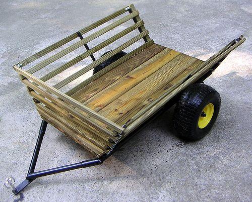 Yard Cart By G Mcbride Yard Cart Lawn Tractor Trailer Garden Tractor Attachments