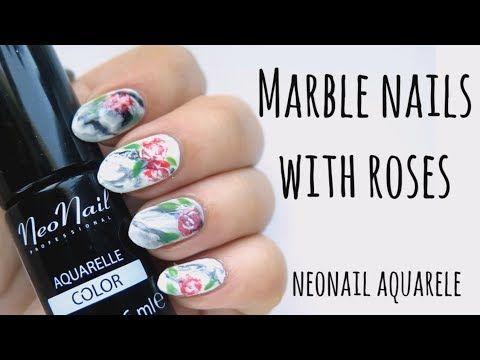 Jak Namalowac Kwiat Hybrydami I Zelami Na Paznokciach Pixel Effect Nails Sniezka Indigo Youtube Nails Marble Nails Color