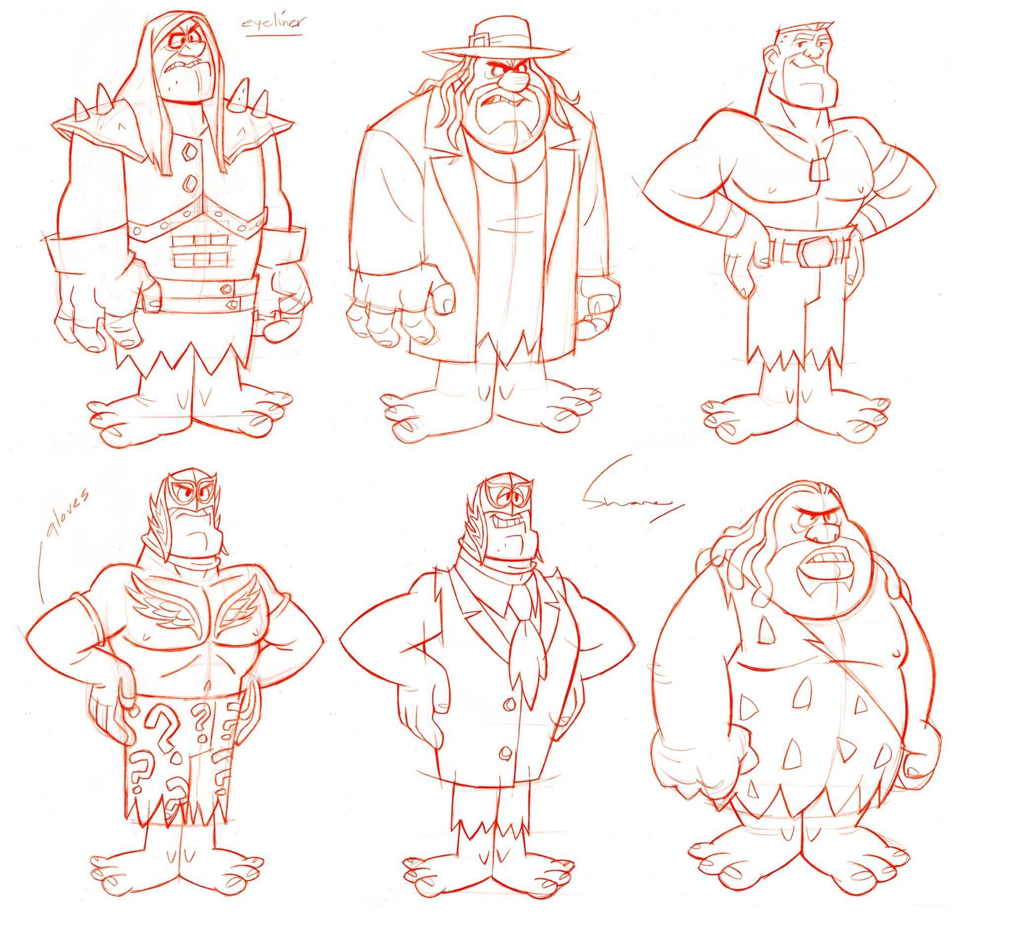 Shane Glines The Flintstones Wwe Stone Age Smackdown