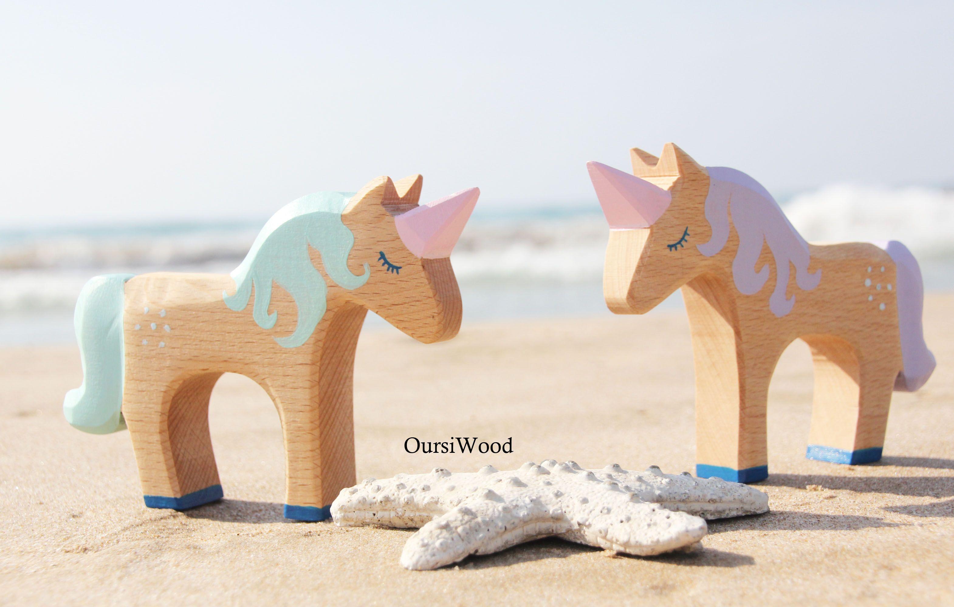 MaderaJuguetesTonos De PastelJueguete Unicornio De Unicornio BCedrxo