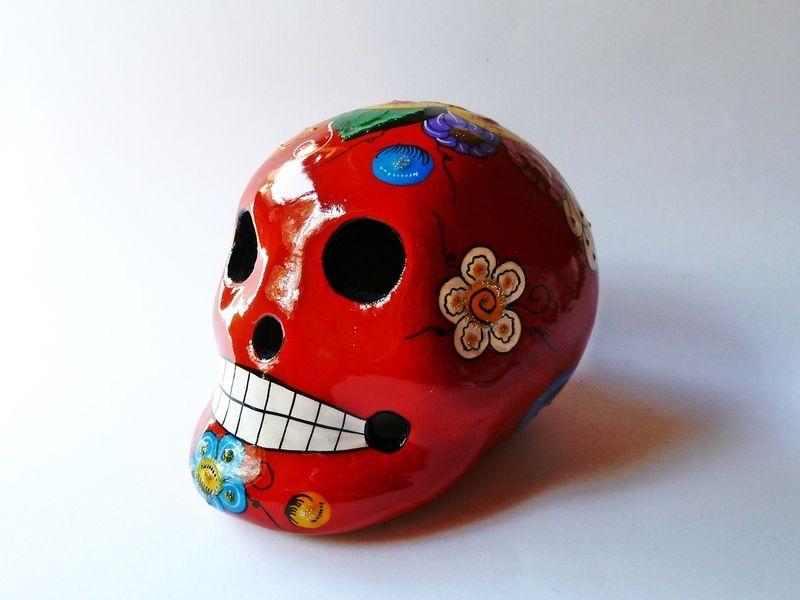 Crâne mexicain / Mexican Schädel / Mexican skull / Calavera de Casa Frida sur DaWanda.com