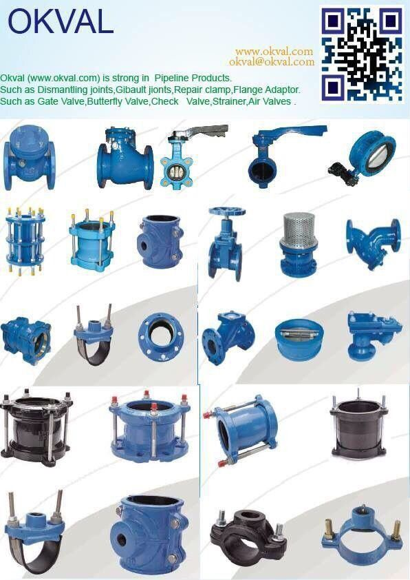 Ductile iron pipe fittings universal coupling