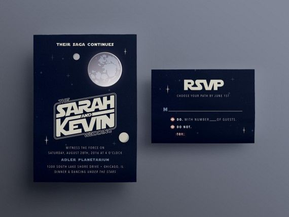 Exceptional 10 Galaxy Inspired Star Wars Wedding Invitations