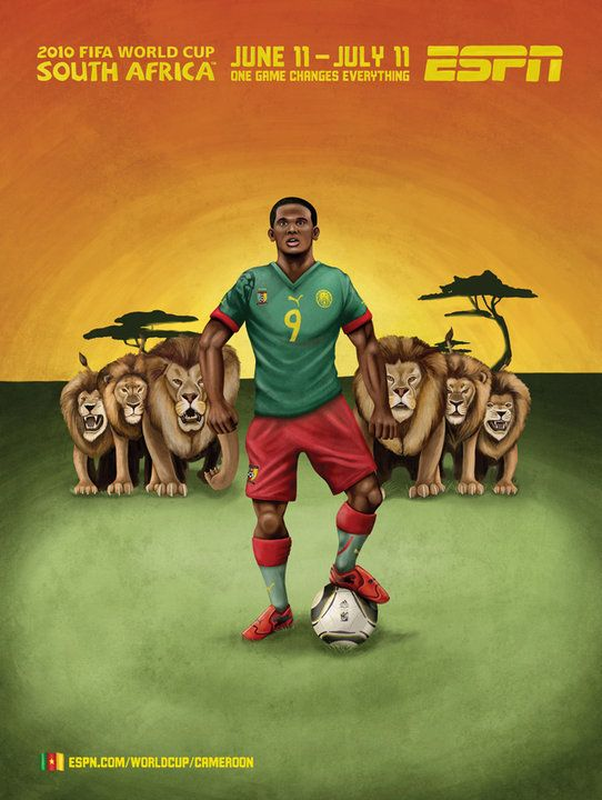 Espn Coupe Du Monde Afrique Du Sud 2010 Cameroun World Football World Cup Soccer World