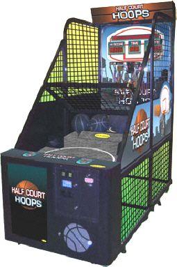 Half Court Hoops Arcade Basketball Machine From Family Fun Companies Arcade Basketball Arcade Games Arcade Games For Sale