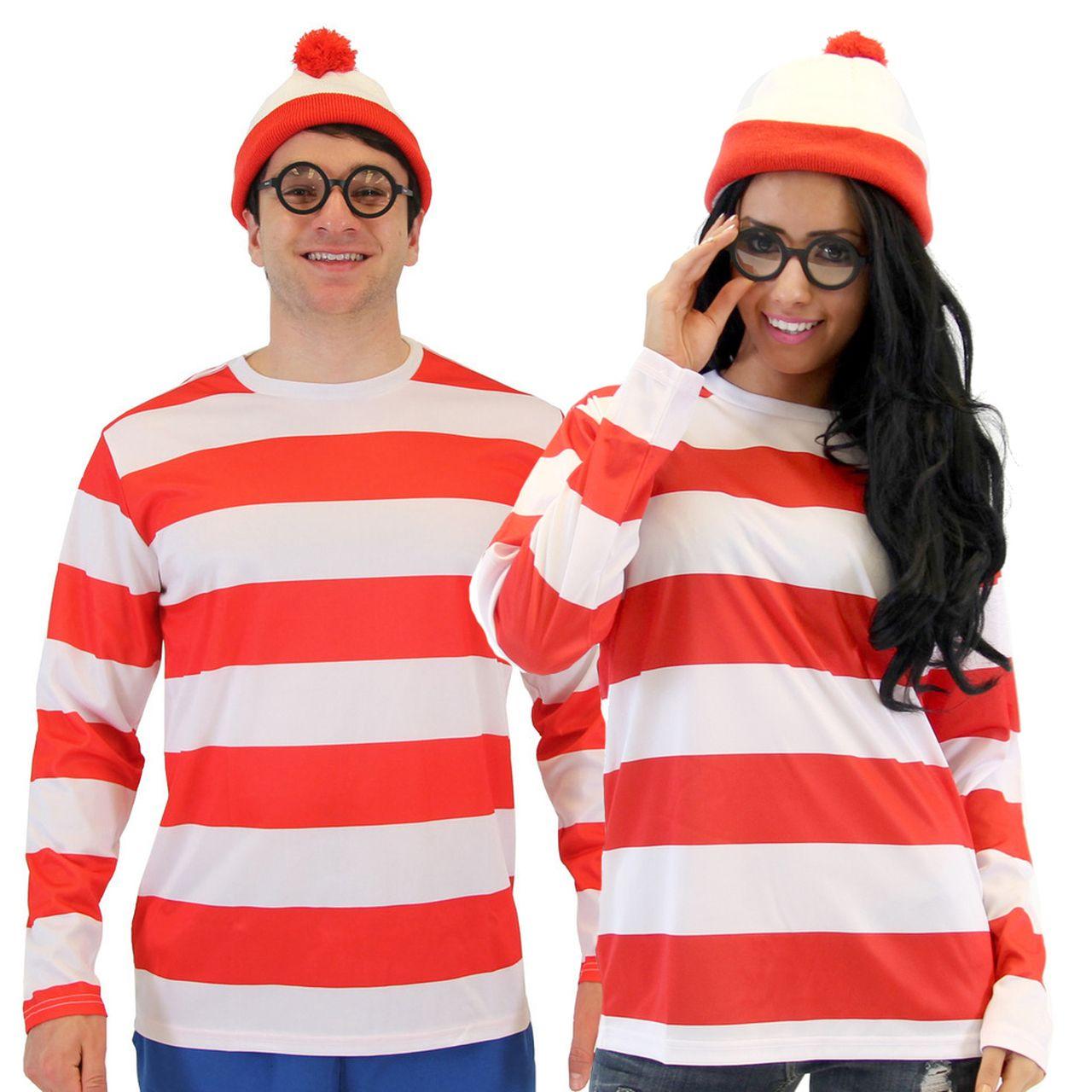Where's Waldo DELUXE Adult Costume Set Easy halloween