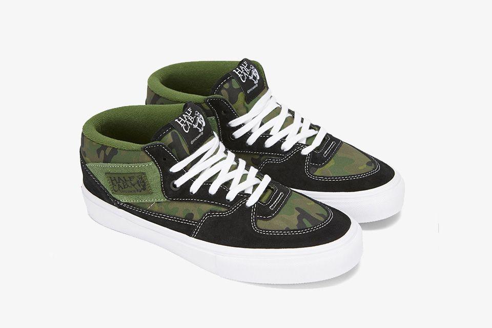 Nuevo Vans sin Cordones Zapatilla Skate Gris Camuflaje