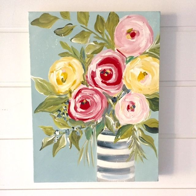 Within My World Floral Painting Flower Painting Art Painting