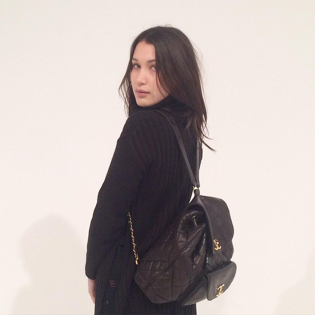 Imagini pentru BELLA HADID Chanel Backpack
