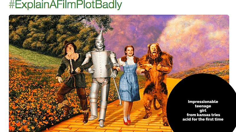 20 Explain A Film Plot Badly Pictures That Will Ruin Movies For You Forever Wizard Of Oz Movie Wizard Of Oz Characters Oz Movie