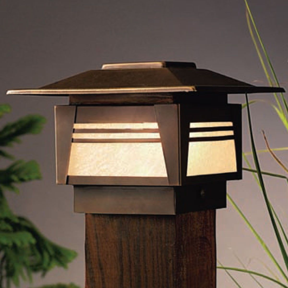 Kichler Zen Garden Post Cap Deck Light Outdoor Post Lights Garden Post Lights Garden Path Lighting