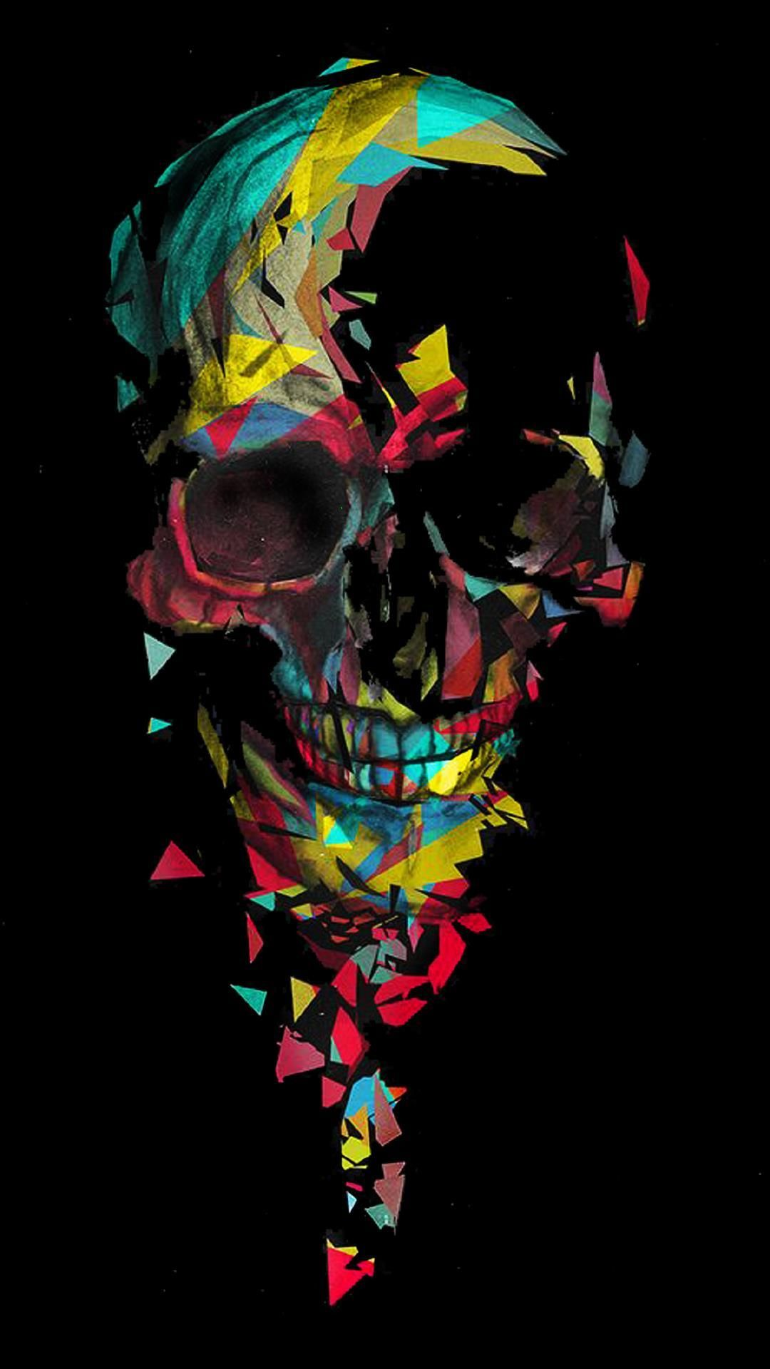 Colored Skull Skull Wallpaper Skull Art Wallpaper