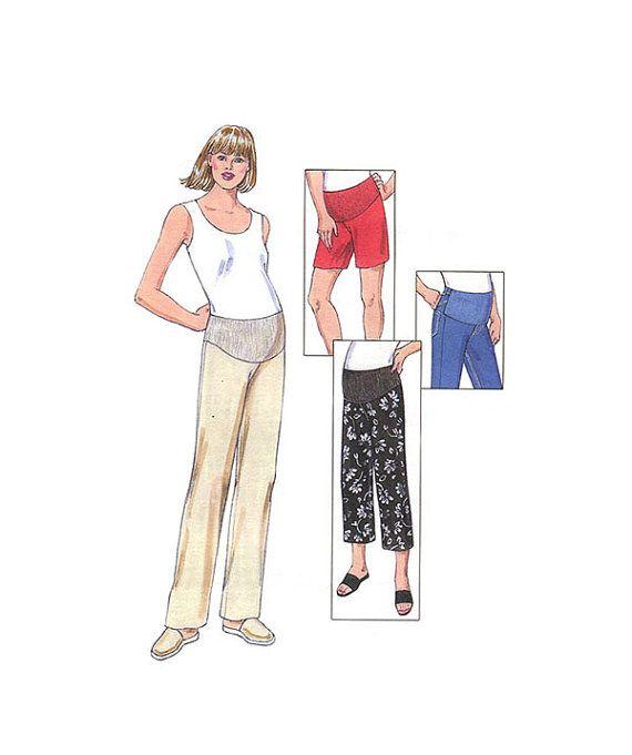 Maternity Pants Pattern Kwik Sew 3324 Size XS-S-M Pullon Long Pants ...