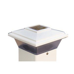 """Dock Edge Solar Cap Light 4 Inch - White by Dock Edge. $42.79. Each Incorporates Stylish, Durable Solar Lighting In An Attractive Colonial Housing.. Powerful Charging Performance And Brite White Led With 360 Degree Illumination.. Dock Edge Solar Cap Light 4"""" - White.. Not Only Attractive But Also Adds Value And Function To Your Dock Or Deck Areas.. Conveniently Mounts Easily To Conventional 4"""" X 4"""" Wooden Posts So You Can Put Them Wherever You Already Have A Post..."""