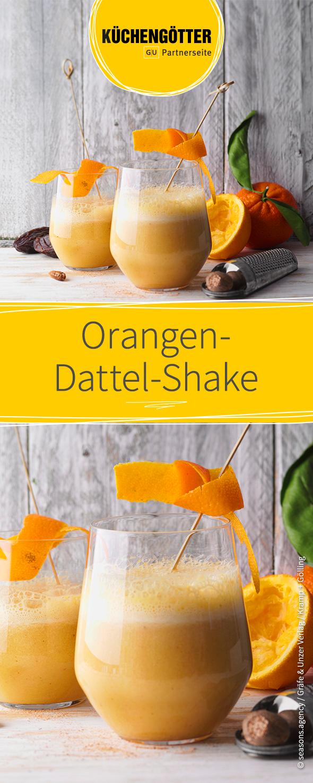 Orangen Dattel Shake Rezept Rezepte Gesunde Smoothies Dattel