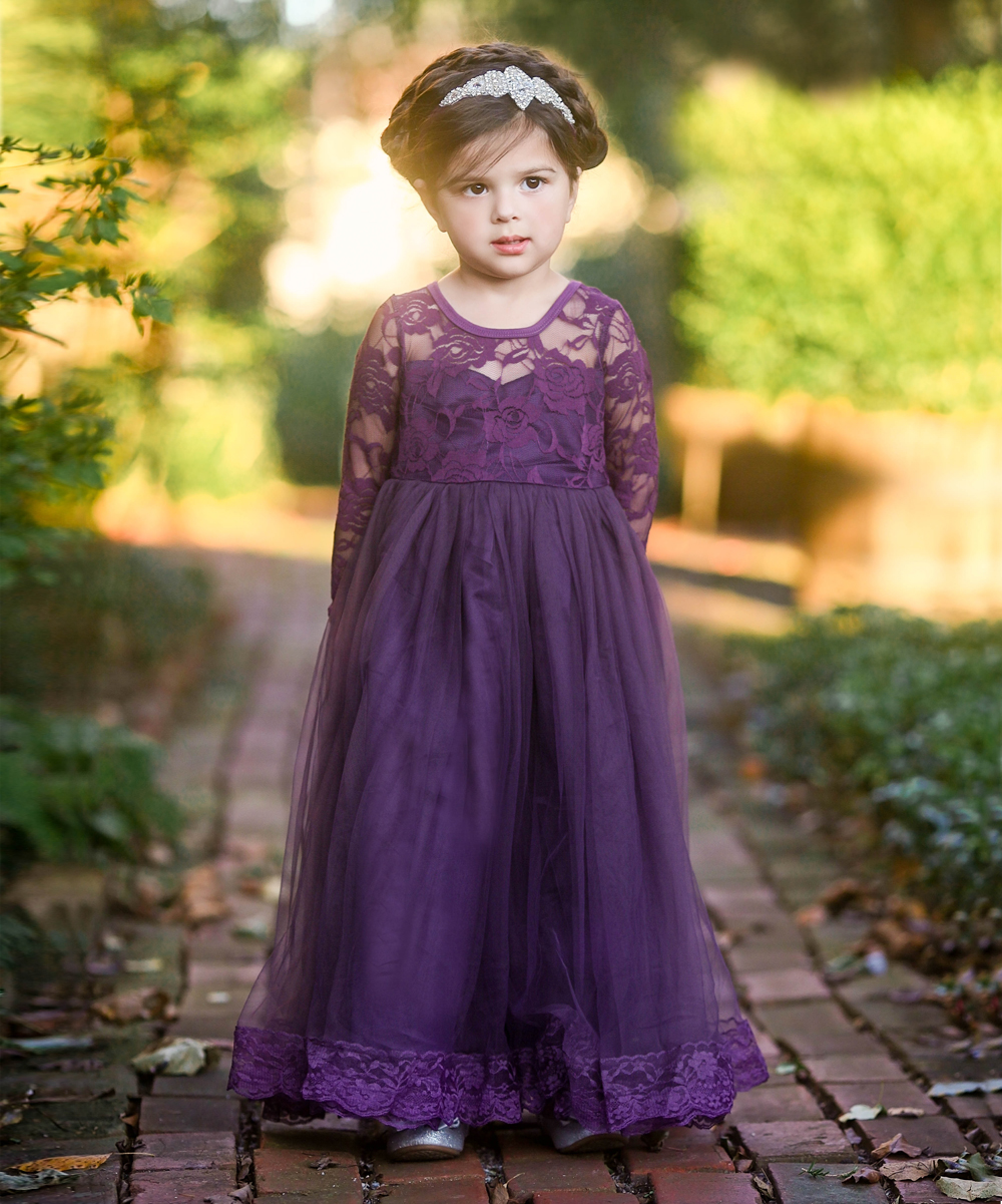 Just Couture Dark Purple Isabelle Gown - Toddler & Girls  Zulily