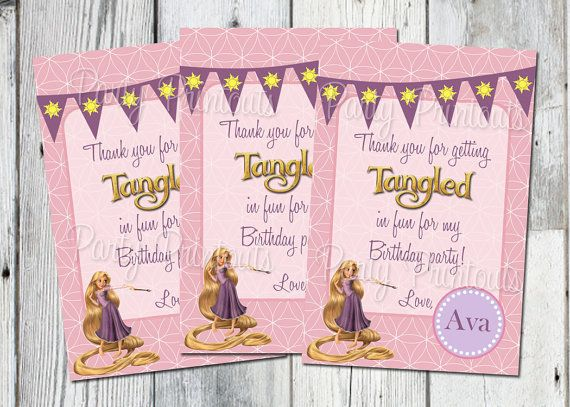 Chalk Pink Purple Princess Party Thank You Cards