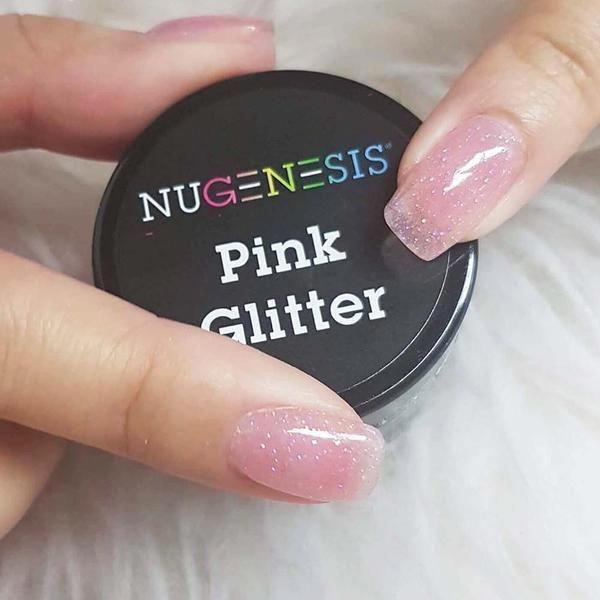 Pink Glitter Dip Powder Nails In 2019 Dipped Nails Nail