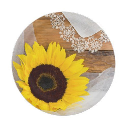 Rustic Sunflower and Lace Country Wedding Paper Plate | Lace Wedding ...