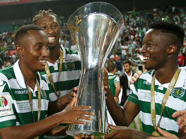 GELSON MARTINS, RUBEN SEMEDO & CARLOS MANÉ: they helped win the supercup trophy against slbenfica