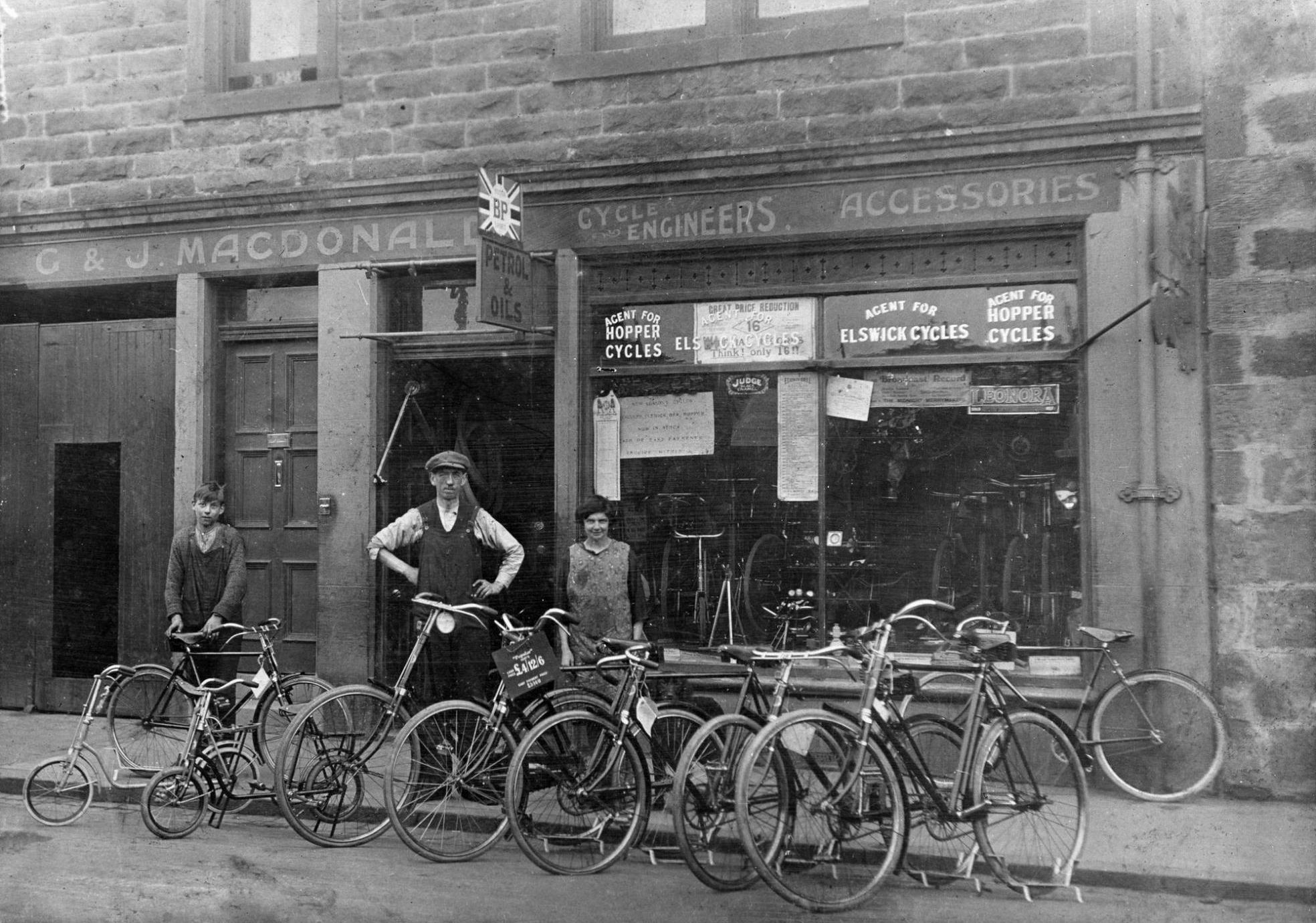 G. and J. MacDonald's bicycle shop, in Dalkeith ...