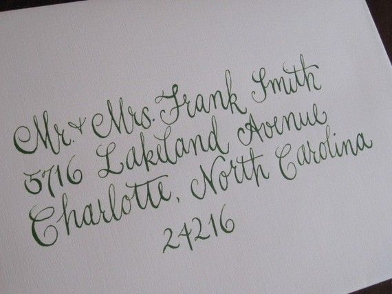 Wedding invitation envelope font wedding